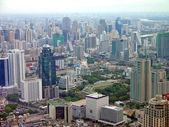 Aerial view of Bangkok city