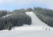 Ski track of Bukovel resort, Ukraine