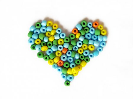 Heart made of beads