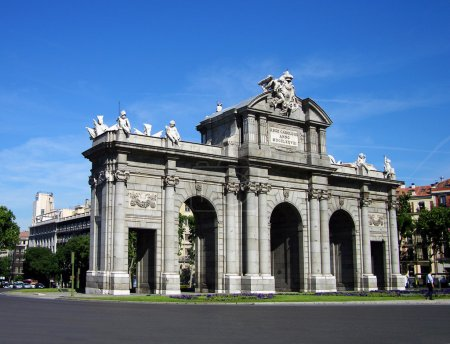 Puerta de Alcala gate in Madrid, Spain