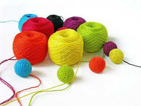 Set of colourful thread