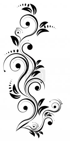 Illustration for Elegance, element, floral - Royalty Free Image