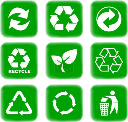 Illustration for Environment and recycle icons - Royalty Free Image