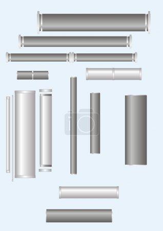Illustration pour Le pipeline avec connexion différente, sur un fond léger . - image libre de droit