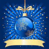 Modrý vánoční koule