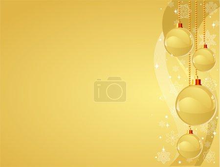 Illustration pour Fond de Noël décoratif vectoriel avec des décorations brillantes - image libre de droit
