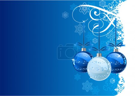 Photo for Vector Christmas Background with balls and snowflakes - Royalty Free Image