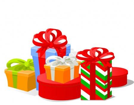 Illustration pour Illustration vectorielle des cadeaux de Noël - image libre de droit