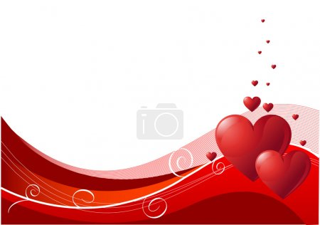 Illustration for Abstract Valentines Day background with hearts. Place for copy\text - Royalty Free Image
