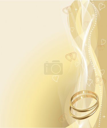 Photo for Illustrated Beautiful Wedding rings Background with place for copy\text - Royalty Free Image