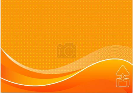 Illustration pour Résumé fond orange avec place pour un texte - image libre de droit