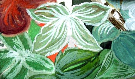 Photo pour Peinture abstraite, je suis l'auteur de cette peinture - image libre de droit