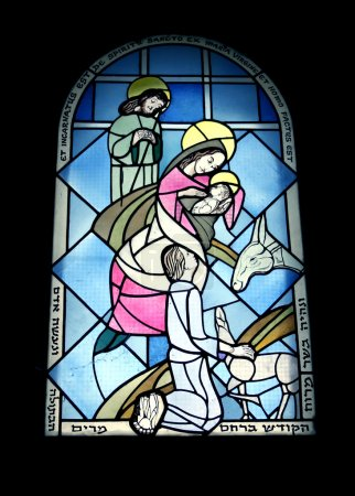 Stained glass window in the monastery