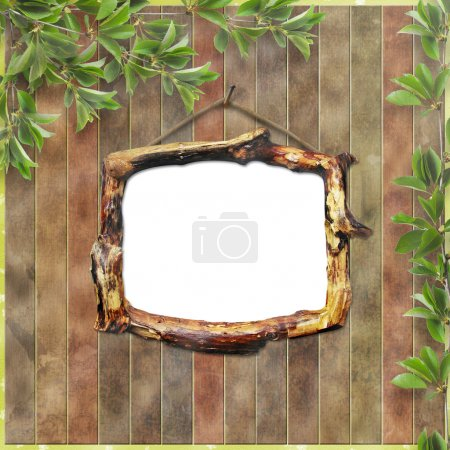 Wooden framework for portraiture on the