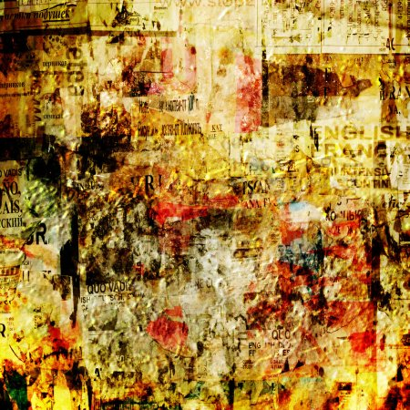 Grunge abstract background with old torn