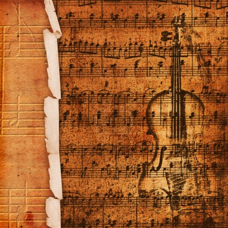 Cover for musical album with sketch of o