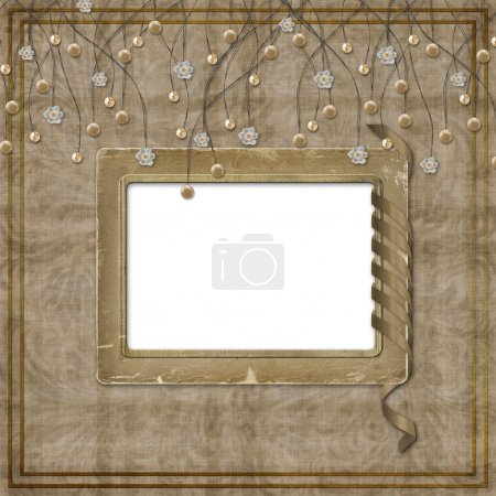 Beige abstract background with suspended