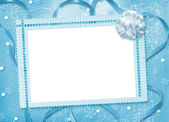 Christmas card with snowflakes and bow o