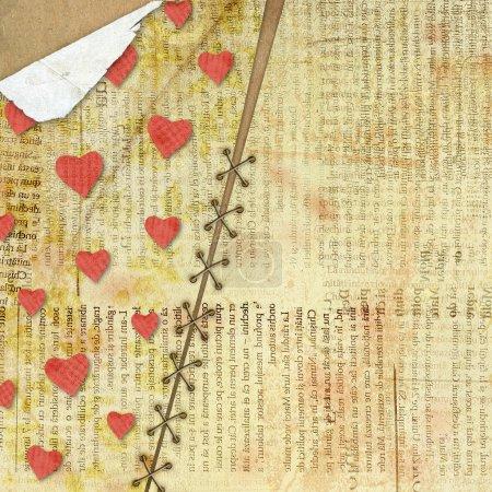 Karte zum Valentinstag