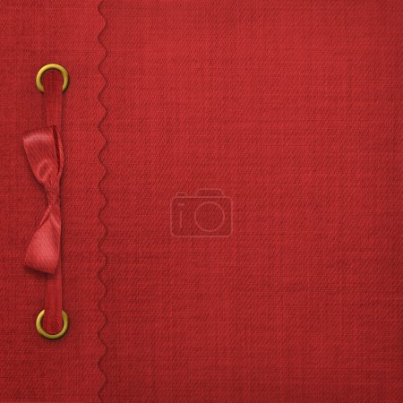 Red cover for an album with photos
