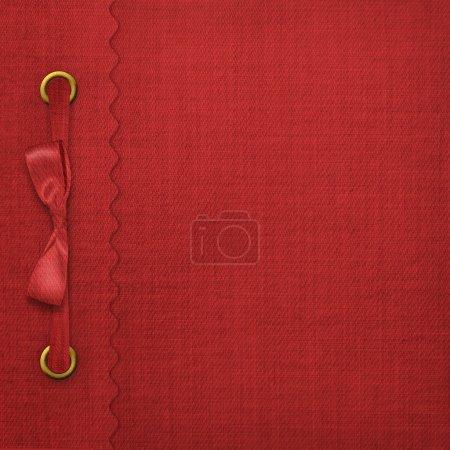 Photo pour Couvercle rouge pour un album avec des photos - image libre de droit