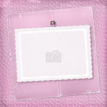 Pink abstract background with paper
