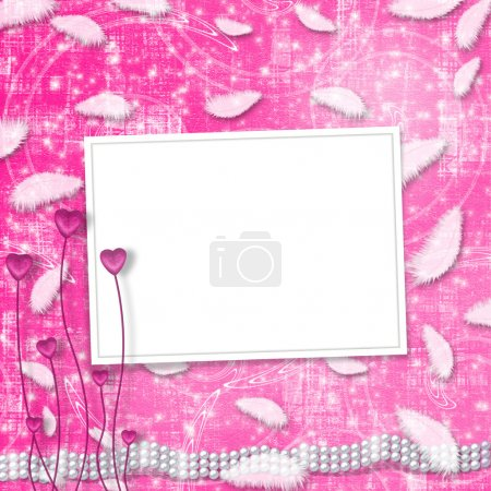 Photo for Festive invitation or congratulations for a wedding, christening - Royalty Free Image