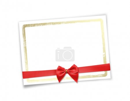 Photo for Card for invitation or congratulation to holiday. White isolated background. - Royalty Free Image