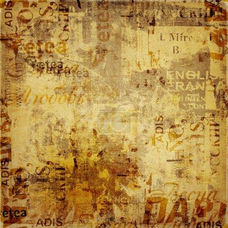 Photo pour Abstrait grunge avec vieux déchiré des affiches - image libre de droit