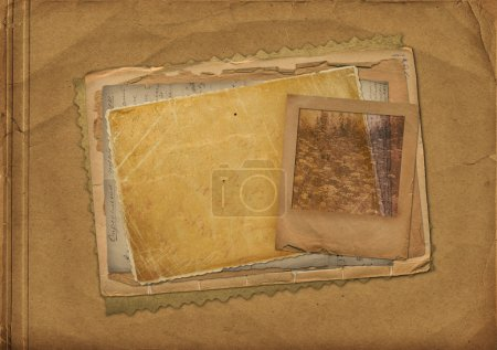 Photo pour Vieux papiers et diapositive grunge avec espace pour le texte ou l'image - image libre de droit