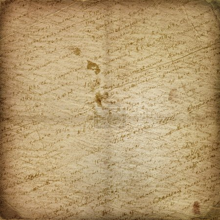 Old manuscript on the alienated paper