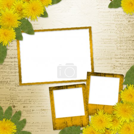 Writing abstract background