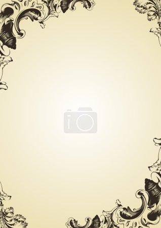Photo pour Raster vintage ornement ancien cadre - image libre de droit