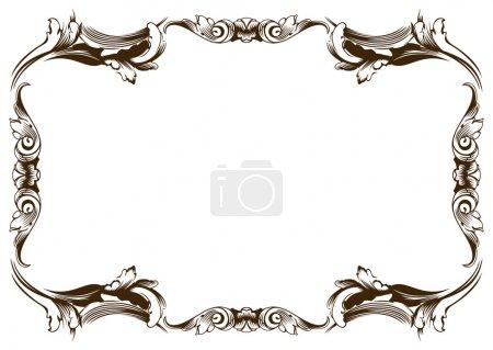Raster new frame vintage old