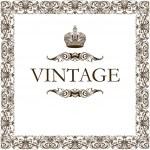Vintage frame decor crown