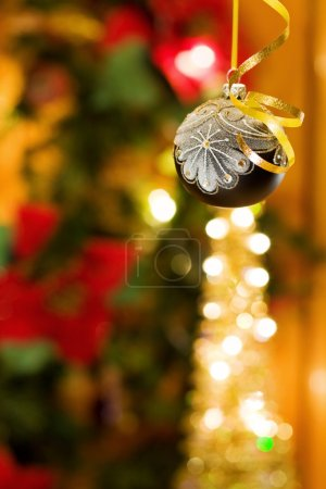 Christmas magic with silver bauble