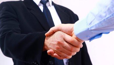Photo for Handshake isolated on white background - Royalty Free Image