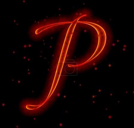 Fuentes Fire. Letra P del alfabeto