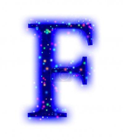 Police de Noël - lettre F