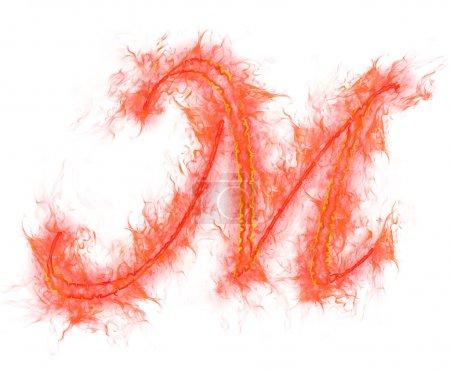 Feuer-Alphabet - Buchstabe m