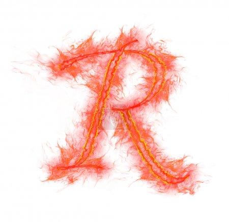 Alphabet feu - lettre R