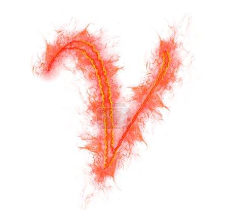 Alfabeto de fuego - letra V