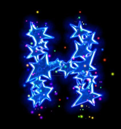 Weihnachtsstern Alphabet - Buchstabe h