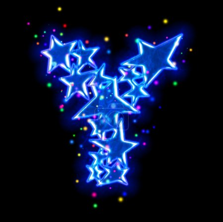 Christmas star alphabet - letter Y