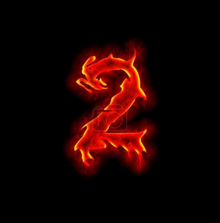 Photo for Gothic fire font - number two - Royalty Free Image