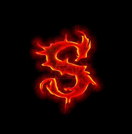 Gothic fire font - letter S