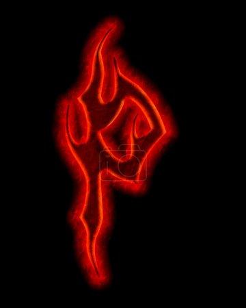 Devil fire fuente - letra P