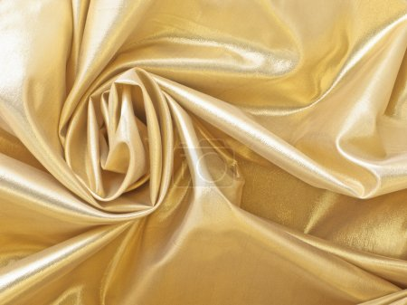 Photo pour Tissu doré comme arrière-plan - image libre de droit