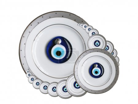 Amuletes against the evil eye isolated on a white ...