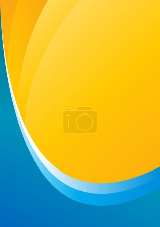 Photo for Blue and yellow background with space for your text or images - Royalty Free Image